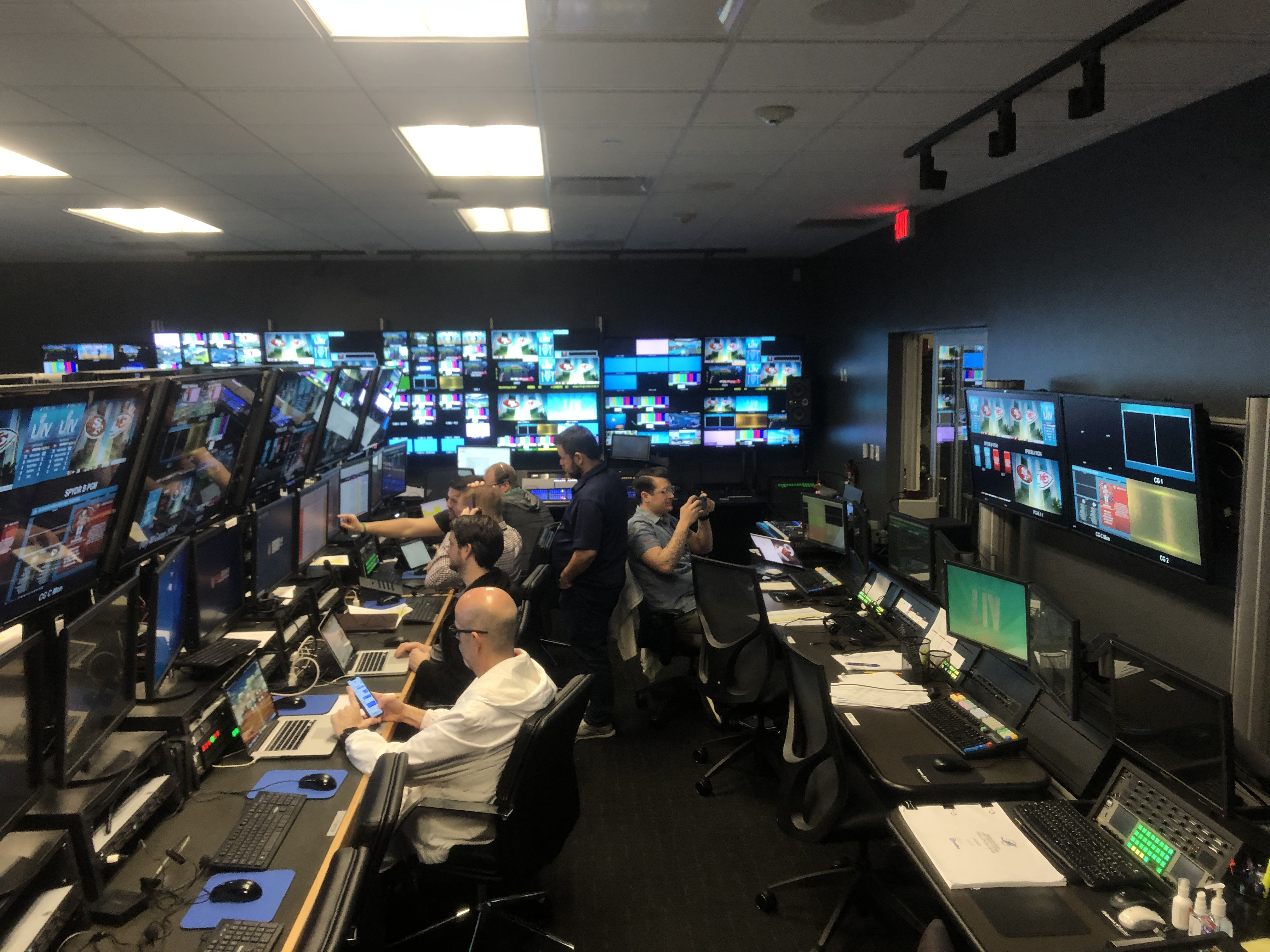 Control room at the Hard Rock Stadium
