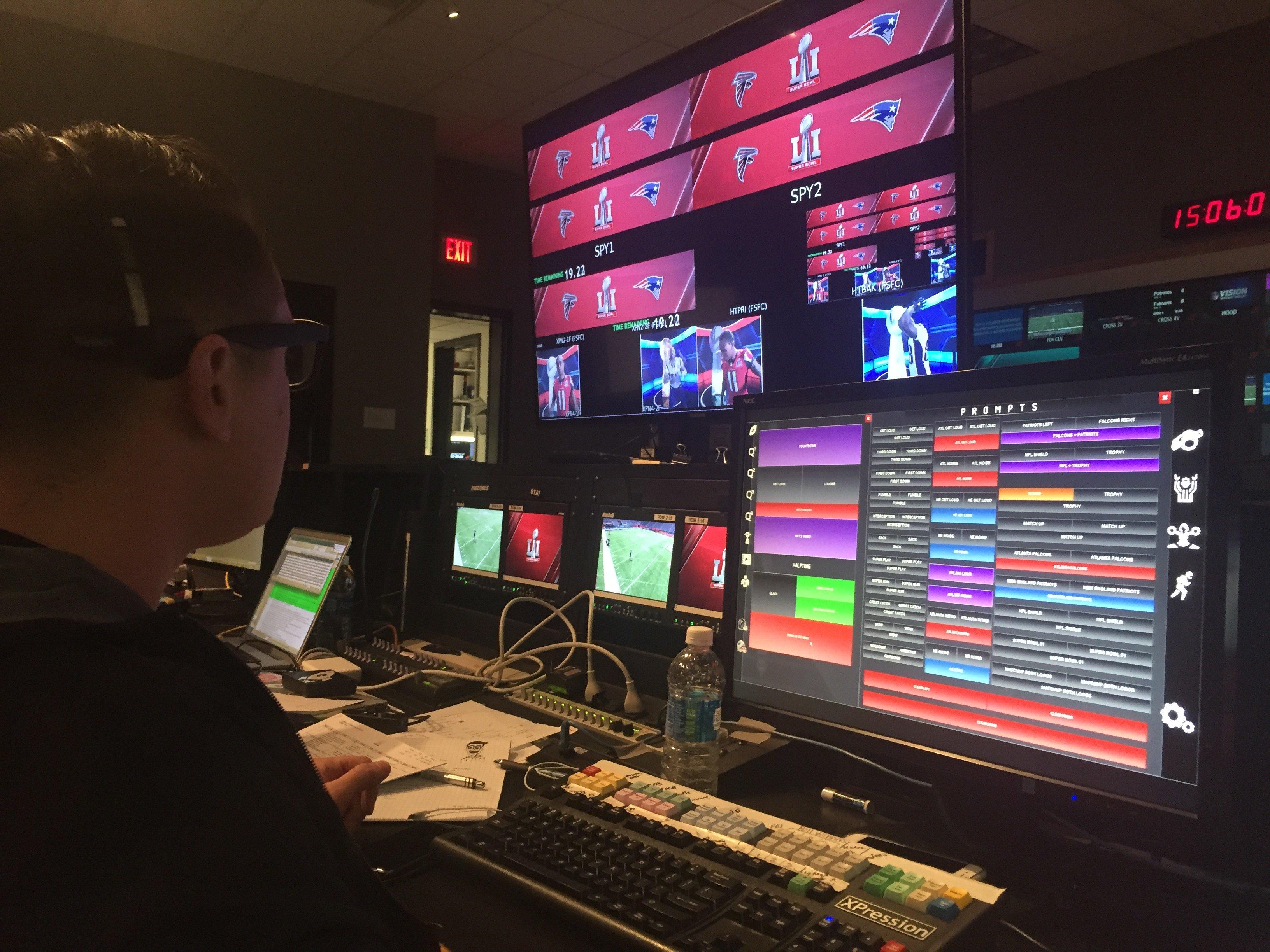 Operator using software at NRG Stadium