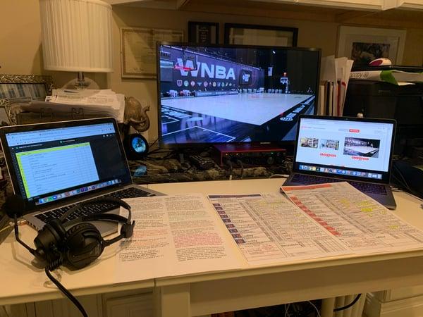 Home setup for WNBA Producer