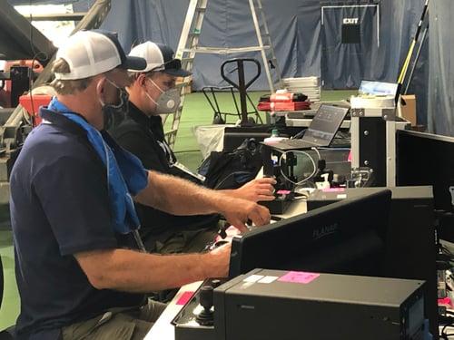 Robotics operators at World TeamTennis tournament
